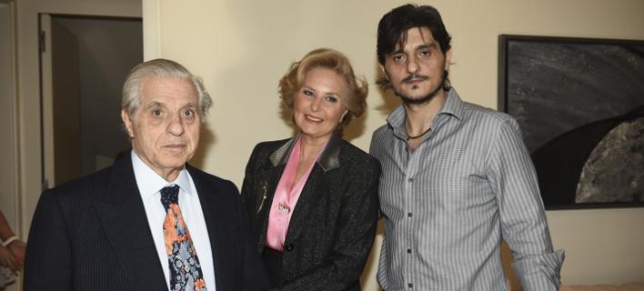 Ο Παύλος Γιαννακόπουλος με την σύζυγο του και τον γιο του Δημήτρη/Φωτογραφία: Εurokinissi