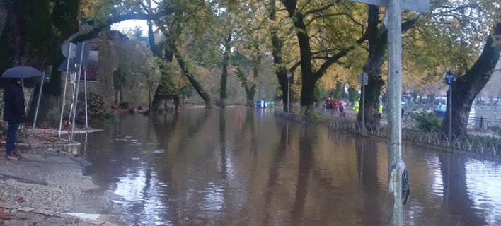 Πλημμύρισε ο δρόμος, φωτογραφία: epirusgate.blogspot.com