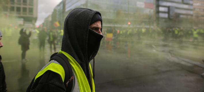 Από διαδήλωση των «κίτρινων γιλέκων» / Φωτογραφία: EUROKINISSI