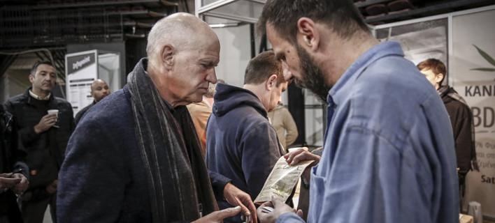 Γιώργος Παπανδρέου και Νίκος Καρανίκας στην πρώτη έκθεση κάνναβης στην Ελλάδα [εικόνες] /Φωτογραφία: Εurokinissi