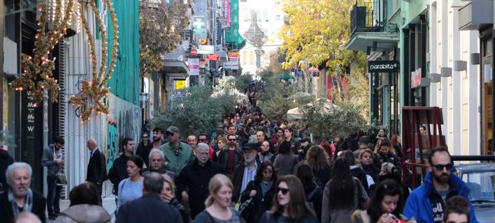 αγορά τα Χριστούγεννα/Φωτογραφία: Eurokinissi
