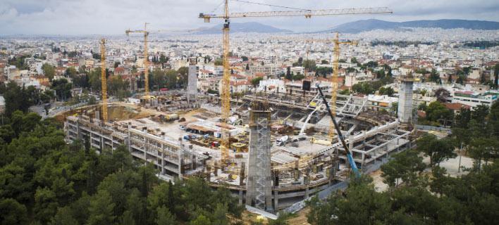 Τα έργα για το νέο γήπεδο της ΑΕΚ /Φωτογραφία: Εurokinissi