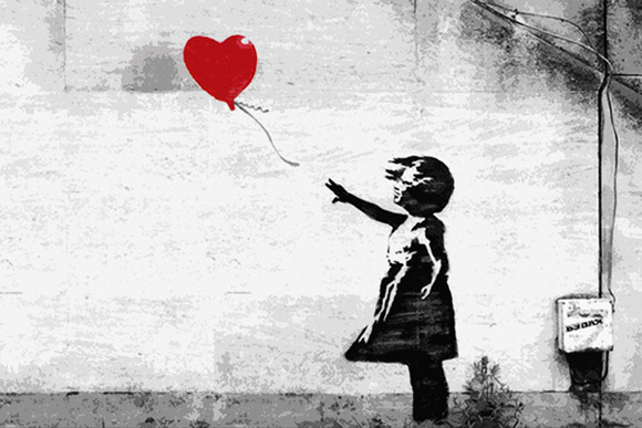 an analysis of banskys girl with red balloon 620x827 banksy reworks girl with heart balloon to mark third anniversary  236x236 silhouette of a boy holding red balloons stock vector illustration.