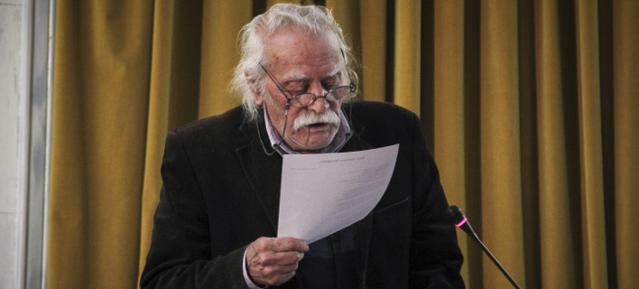 Ο Μανώλης Γλέζος (Φωτογραφία: EUROKINISSI/ΣΩΤΗΡΗΣ ΔΗΜΗΤΡΟΠΟΥΛΟΣ)
