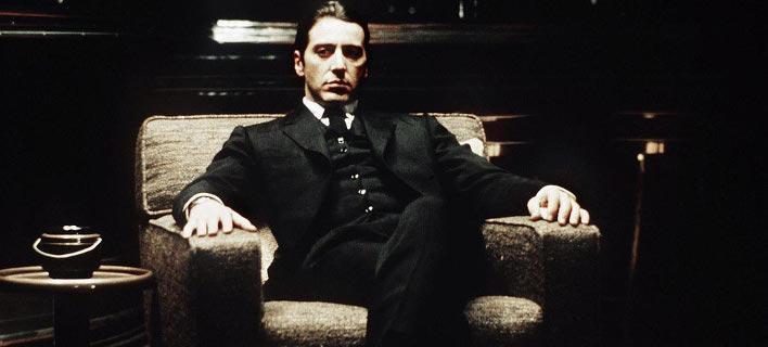 Στιγμιότυπο από την ταινία «Νονός» με τον Αλ Πατσίνο. Φωτογραφία: YouTube