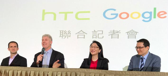 Oι εκπρόσωποι των δύο εταιρειών κατά την ανακοίνωση της συμφωνίας/Φωτογραφία:AP