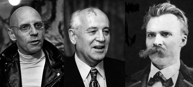 Φρίντριχ Νίτσε, Μισέλ Φουκό, Μιχαήλ Γκορμπατσόφ, Ναπολέων Βοναπάρτης,Τσάρλι Τσάπ
