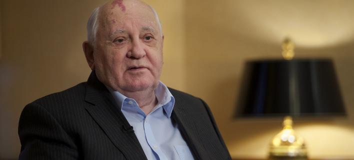Ο Μιχαήλ Γκορμπατσόφ (Φωτογραφία: AP/ Ivan Sekretarev)