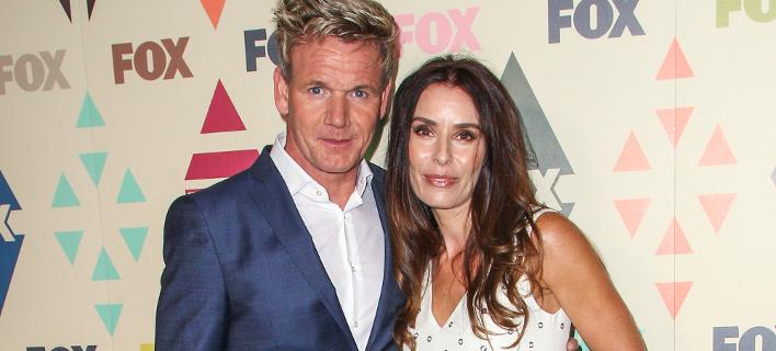 Ο Γκόρντον Ράμσεϊ με τη σύζυγό του, Τάνα. Φωτογραφία: AP