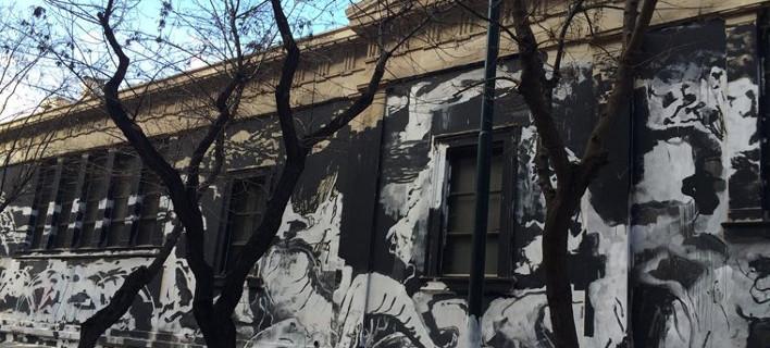 Να ποιοι έκαναν το γκράφιτι στο Πολυτεχνείο