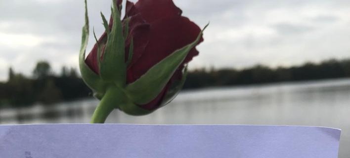 Το συγκινητικό γράμμα μιας λίμνης (Φωτογραφία: Twitter)
