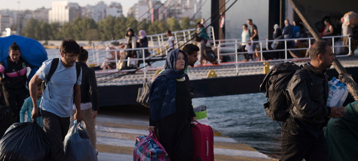 οι πρόσφυγες φεύγουν από τη Μόρια/Φωτογραφία: AP