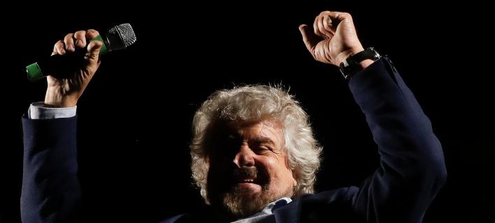 Ο Μπέπε Γκρίλο -Φωτογραφία αρχείου: AP Photo/Gregorio Borgia