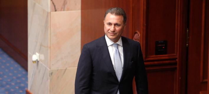 Ο τέως πρωθυπουργός της ΠΓΔΜ και βουλευτής του VMRO-DPMNE, Νίκολα Γκρούεφσκι (Φωτογραφία: ΑΡ/Boris Grdanoski)