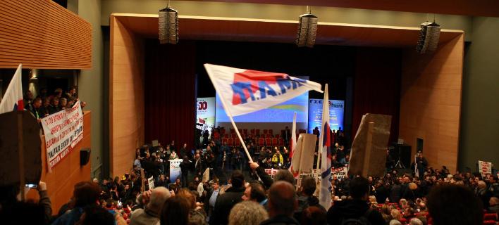 Ματαιώθηκε τελικά το συνέδριο της ΓΣΕΕ/ Φωτογραφία: EUROKINISSI/ ΓΡΑΦΕΙΟ ΤΥΠΟΥ ΠΑΜΕ