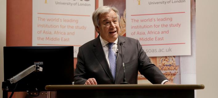 Ο ΓΓ του ΟΗΕ, Αντόνιο Γκουτέρες // ΦΩΤΟΓΡΑΦΙΑ: ΑΡ