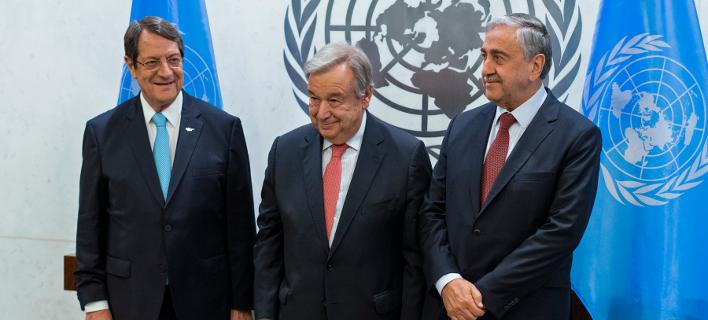Χωριστές συναντήσεις Γκουτέρες με Αναστασιάδη και Ακιντζί/Φωτογραφία: AP