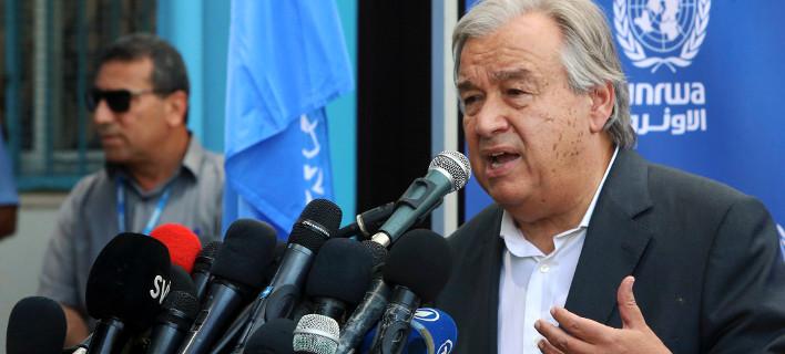 Ο Γενικός Γραμματέας των Ηνωμένων Εθνών Αντόνιο Γκουτέρες/ Φωτογραφία: Adel Hana/ AP