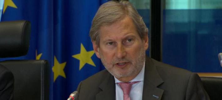 O επίτροπος Διεύρυνσης της ΕΕ, Γιοχάνες Χαν