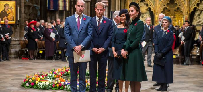Χάρι, Μέγκαν, Γουίλιαμ και Κέιτ. Φωτογραφία: AP