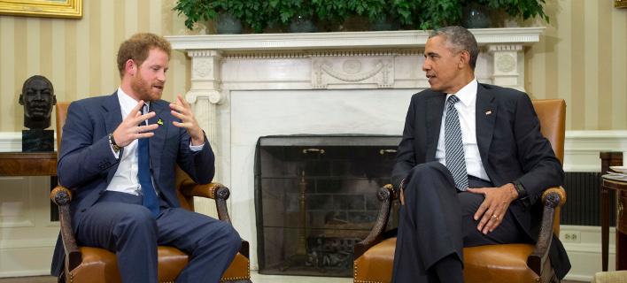 Μια ιδιαίτερη, φιλική σχέση έχουν ο Χάρι με τον Μπαράκ Ομπάμα. Φωτογραφία: AP