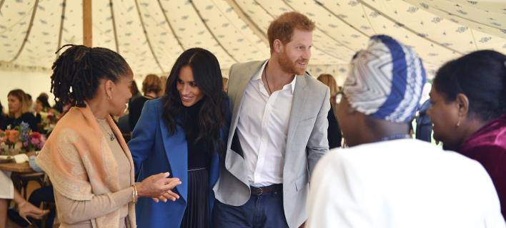 Η Ντόρια Ράγκλαντ, η Μέγκαν Μαρκλ και ο πρίγκιπας Χάρι /Φωτογραφία: AP