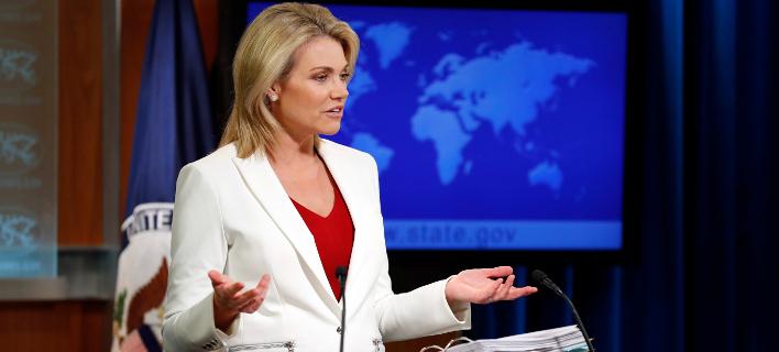 Φωτογραφία: H εκπρόσωπος του υπουργείου Εξωτερικών των ΗΠΑ/AP