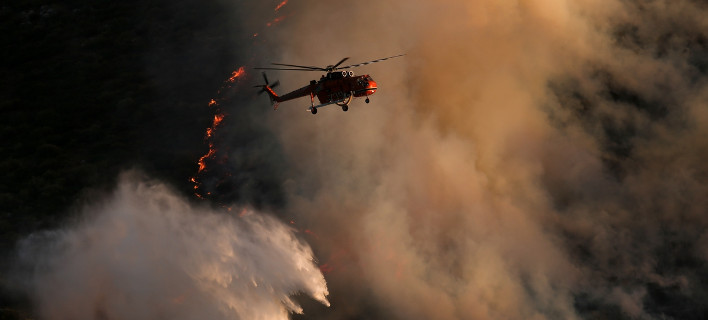 Σε ύφεση η πυρκαγιά στο Μενίδι- Κοντά στη λεωφόρο Τατοΐου