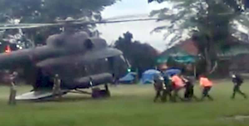 Εικόνα από την στιγμή διάσωσης των παιδιών