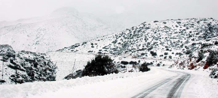 Χιόνια στην Κρήτη (Φωτογραφία: EUROKINISSI)