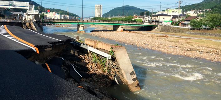 Πλημμύρες στην Ιαπωνία/Φωτογραφία: AP