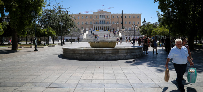 Το κτίριο της Βουλής από μακριά-Φωτογραφία: Eurokinissi/Γιάννης Παναγόπουλος