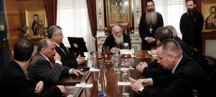 Τον Αρχιεπίσκοπο Ιερώνυμο επισκέφθηκαν πρόεδροι Λαϊκών Αγορών (Φωτογραφία: Eurokinissi/ΧΡΗΣΤΟΣ ΜΠΟΝΗΣ)