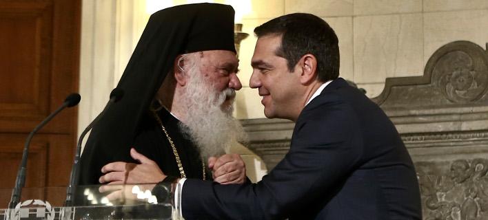 Αρχιεπίσκοπος Ιερώνυμος & Αλέξης Τσίπρας (Φωτογραφία: IntimeNews/ΤΖΑΜΑΡΟΣ ΠΑΝΑΓΙΩΤΗΣ)
