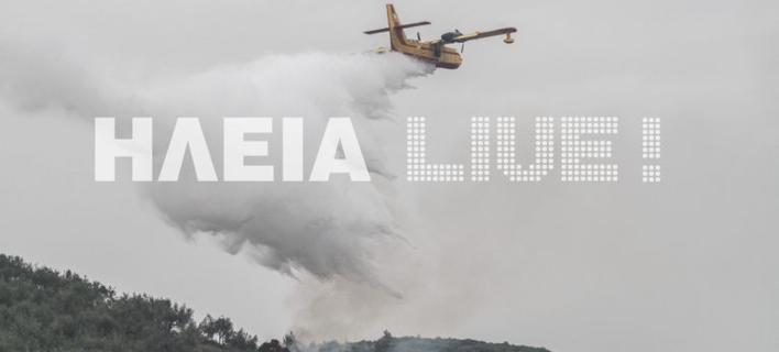 Ηλεία: Δεν υπάρχει ενεργό μέτωπο φωτιάς- Συνεχίζονται οι επιχειρήσεις της πυροσβεστικής