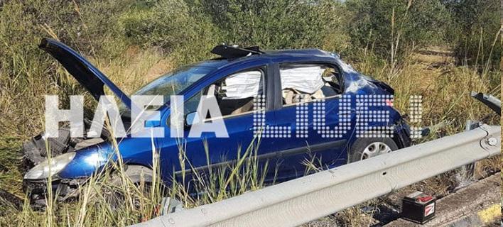 Σοκαριστικό τροχαίο στην Ηλεία: Η μπάρα διαπέρασε το αυτοκίνητο -Σώα η οδηγός