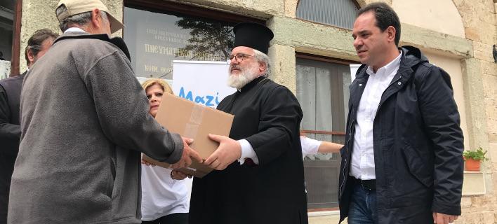 «Αποστολή» και «Μασούτης» στηρίζουν με τρόφιμα οικογένειες στον ακριτικό Εβρο [εικόνες]