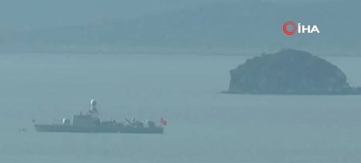 Τα τουρκικά πλοία στα Ιμια έτσι όπως τα εμφανίζουν τα ΜΜΕ της Τουρκίας- φωτογραφία you tube