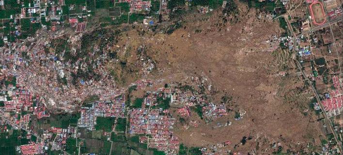 Η συνοικία Petobo στην Ινδονησία μετά τον σεισμό και το τσουνάμι