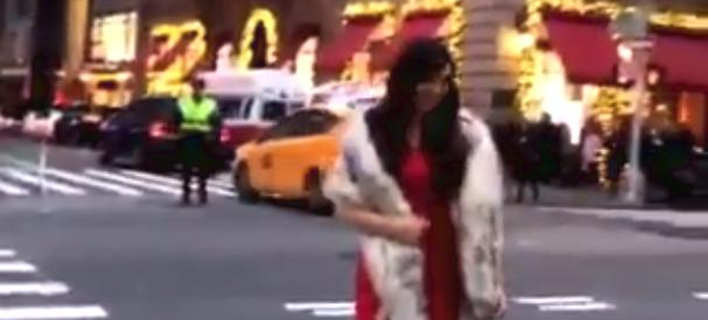 Influencers μέσα στο κρύο της Νέας Υόρκης -Περιμένουν το φανάρι για να βγάλουν φωτογραφίες