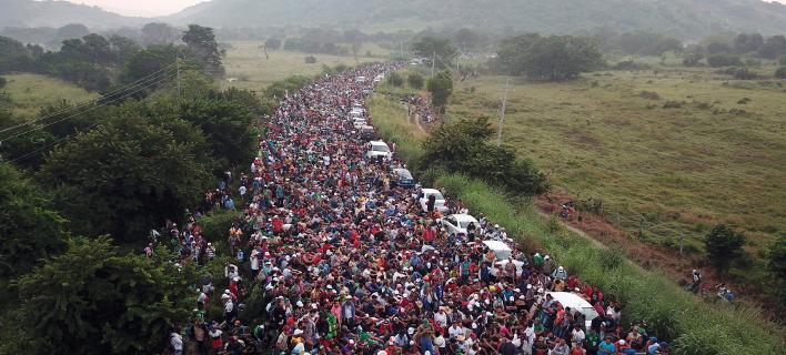 Μετανάστες στα σύνορα με το Μεξικό/Φωτογραφία: ΑΡ