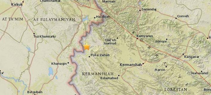 Το επίκεντρο του σεισμού (Φωτογραφία: USGS)
