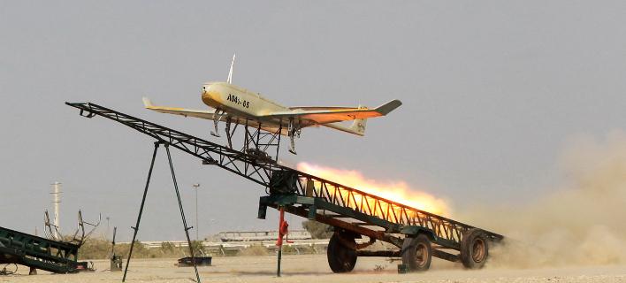 Μη επανδρωμένο στρατιωτικό αεροσκάφος του Ιράν -Φωτογραφία: AP