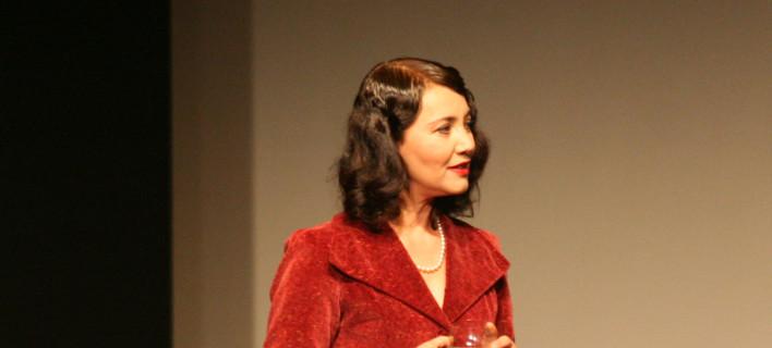 Η Ηρώ Μουκίου σε θεατρική παράσταση το 2012, Φωτογραφία: NDP photo agency