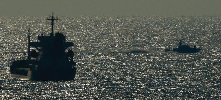 Το πλοίο ονομάζεται Al-Awda (Φωτογραφία: AP Photo/Ariel Schalit)