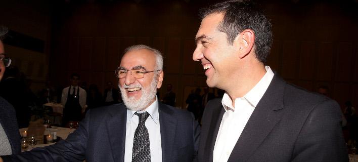 ο ιβαν σαββιδης με τον αλεξη τσιπρα eurokinissi