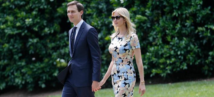 Απογοητευμένος είναι ο Ντόναλντ Τραμπ από το γαμπρό και την κόρη του. Φωτογραφία: AP