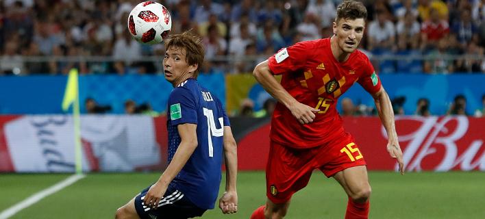Ιαπωνία - Βέλγιο: 2-3. Φωτογραφία: AP
