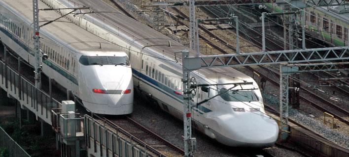 25 δευτερόλεπτα νωρίτερα αναχώρησε ένα τρένο στην Ιαπωνία και προκάλεσε πανικό. Φωτογραφία: AP