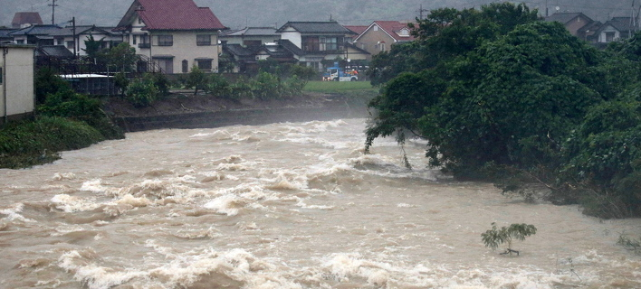 Νεκροί και αγνοούμενοι από τις σφοδρές βροχοπτώσεις στην Ιαπωνία (Φωτογραφία: ΑΠΕ/  EPA/JIJI PRESS)
